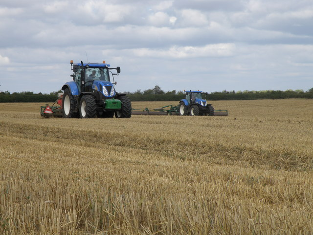 Blue tractor action