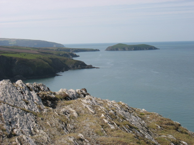 On Foel y Mwnt summit