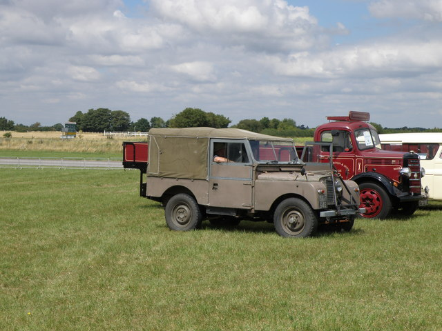 Land Rover and Bedford truck