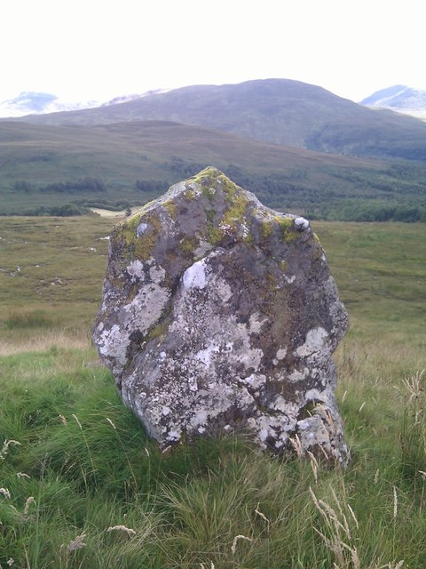 """Stone"" as marked on 25k map looking across Glen Roy"