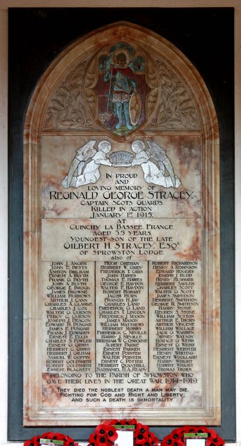 St Mary & St Margaret, Sprowston, Norwich - War Memorial