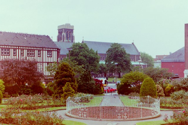 Park in front of Swansea Castle
