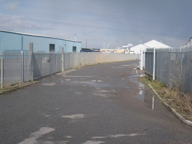 Industrial access off North Moss Lane
