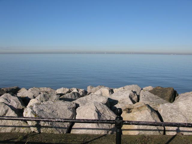 Sea defences at Reculver