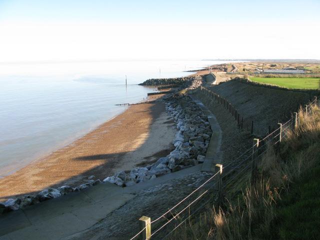 View along the coast towards Birchington