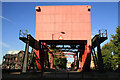 TQ3580 : Scherzer rolling bridge, Surrey Dock entrance. by Chris Allen