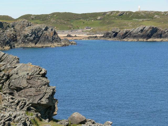 Porth Dafarch viewed from Graig Lwyd