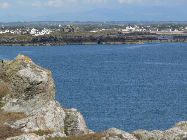 Trearddur Bay viewed from Graig Lwyd