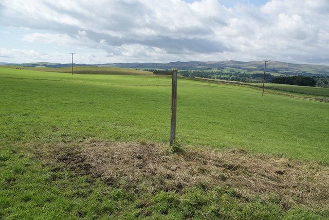 Footpath sign on Eshton Moor