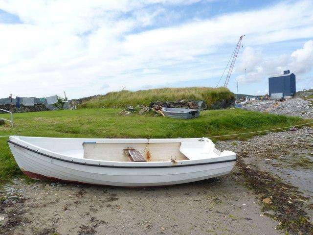 Boat on Shore, Loch Leodamais, Port Ellen, Islay