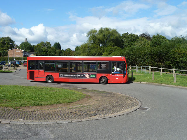 246 bus leaving Westerham car park