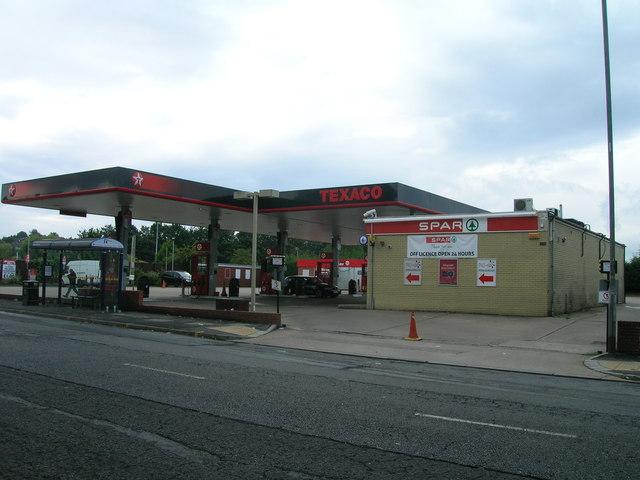 Service station on City Road, Sheffield