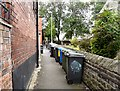 SJ9594 : Wheelie bins in Tinker's Passage by Gerald England