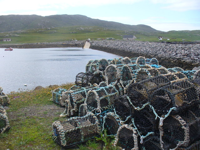 Creels by the Vatersay Causeway