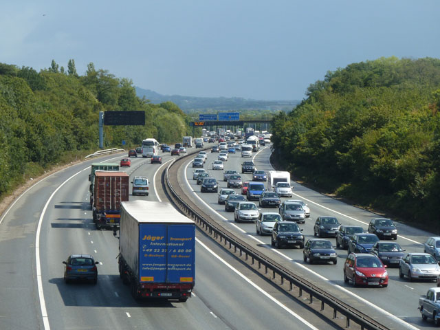 M25 on a bank holiday weekend
