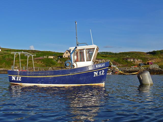 Fishing boat in Loch Caroy