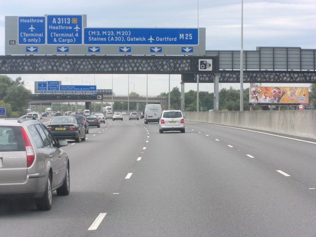 M25 at Junction 14