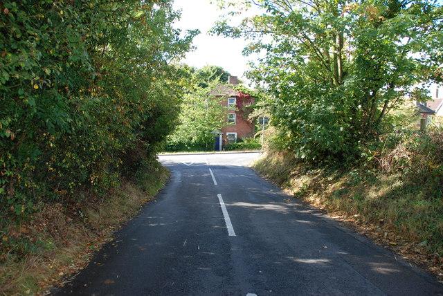 Greensforge Lane Meeting the Bridgnorth Road A458