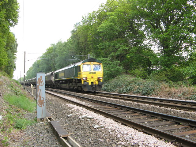 Freightliner Train at Hirst  Wood