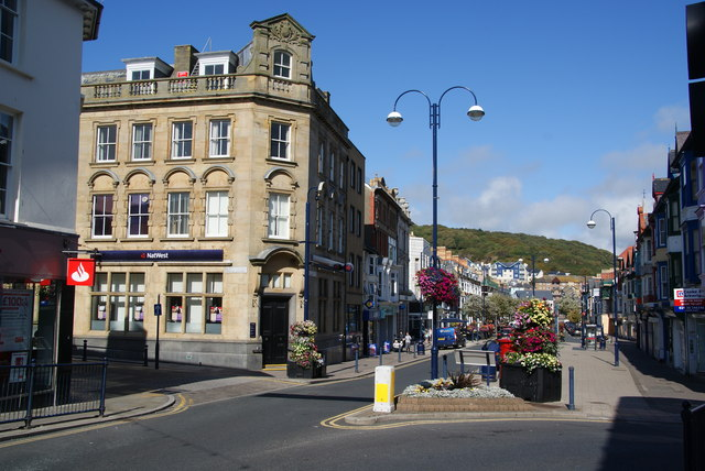 NatWest Bank and North Parade, Aberystwyth