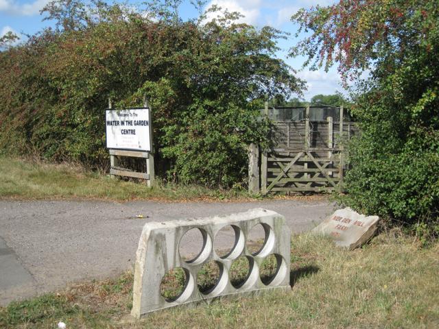 Entrance to closed garden centre