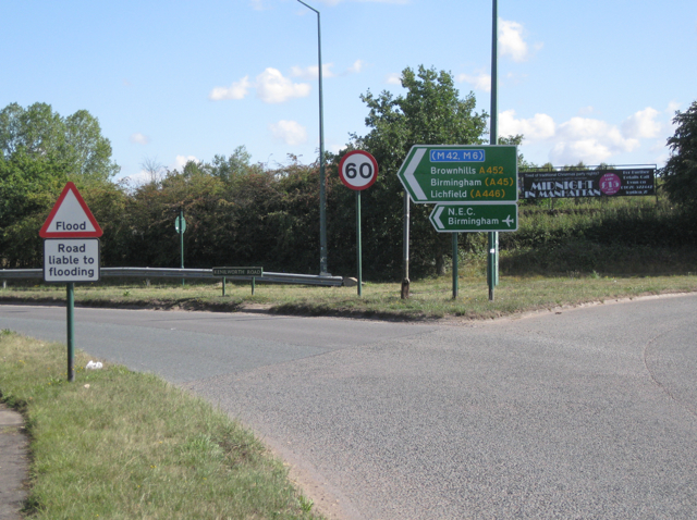 A452 exits the Hampton/Meriden island