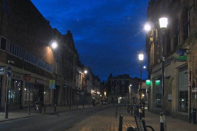Ayr High Street at Night