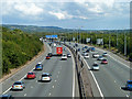 TQ4856 : M25 approaching M26 junction by Robin Webster