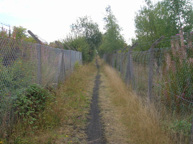 Path beside railway