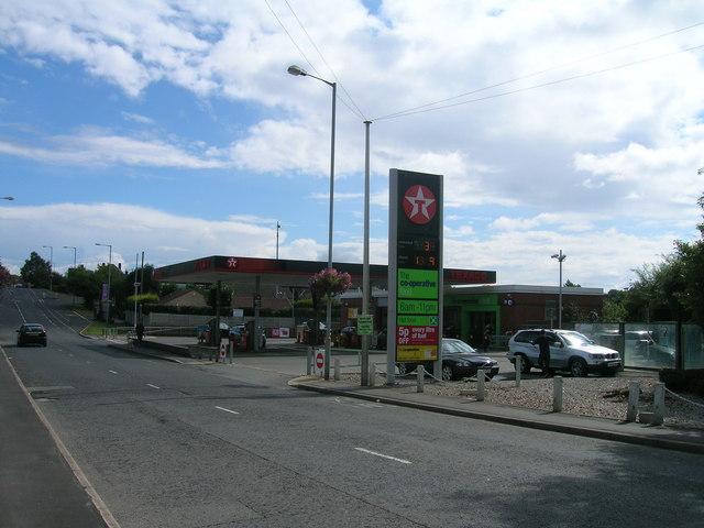 Service Station on Worksop Road