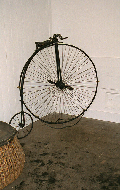 Penny farthing bicycle on display at Balmoral Castle