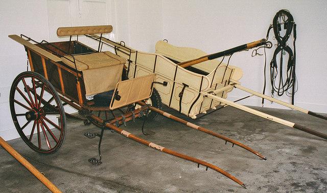 Horse drawn carts on display at Balmoral Castle