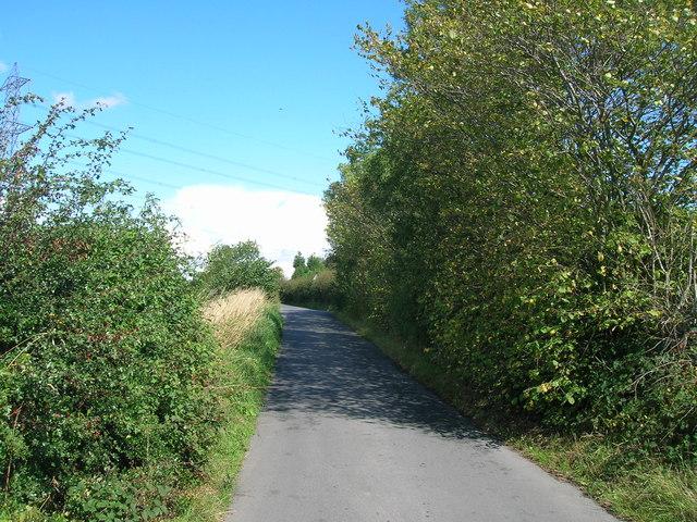 Low Lane towards Hooton Levitt
