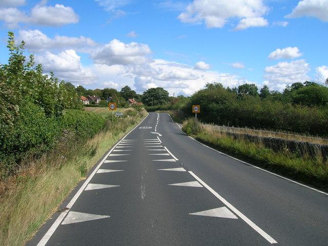 A634 towards Stone