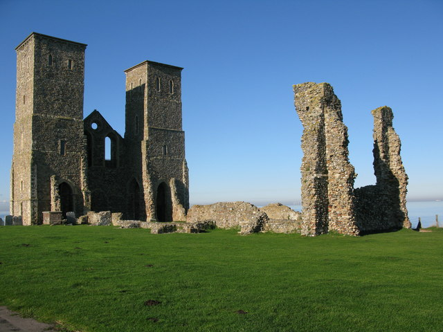 The ruins of St Mary's church, Reculver