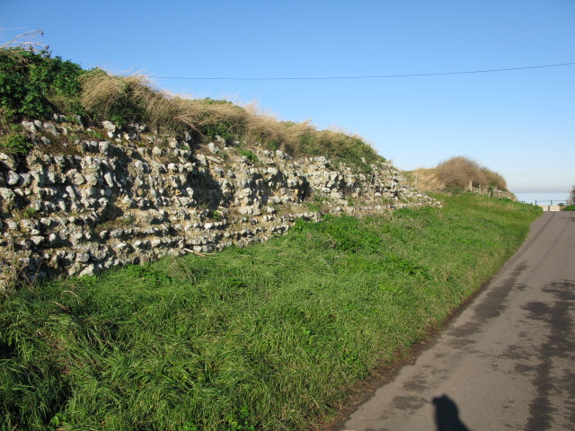 Remains of the Roman fort at Reculver