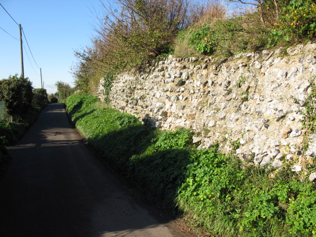 Roman walls of the former Regulbium, Reculver