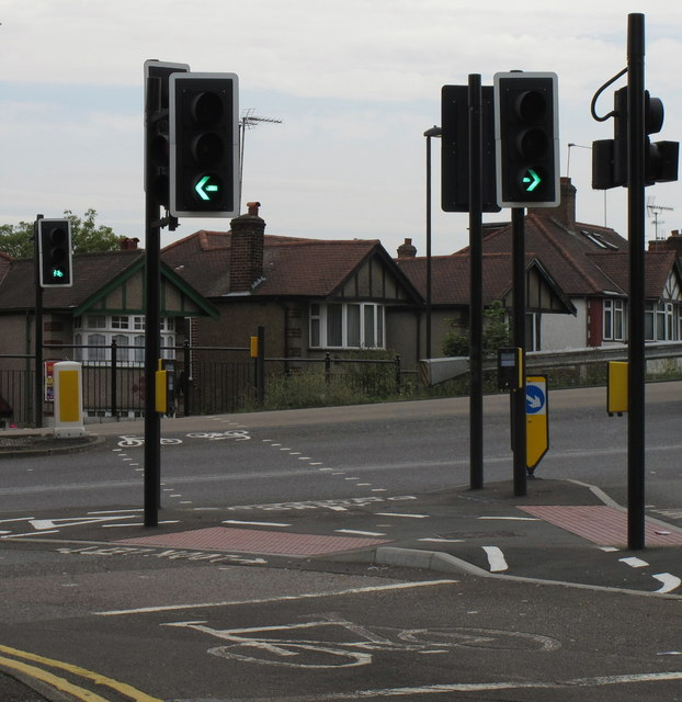 """Cycle Crossing Only"" across Hanger Lane North"