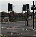 "TQ1882 : ""Cycle Crossing Only"" across Hanger Lane North by David Hawgood"