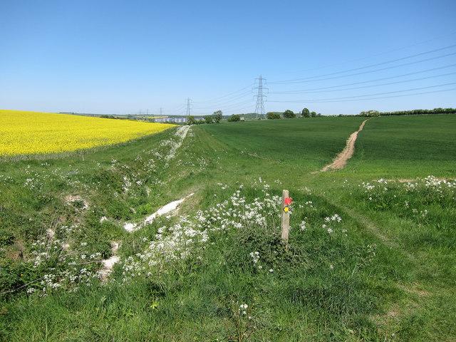 Farmland south of Linton