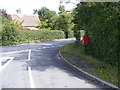 TM2771 : Framlingham Road at Wells Corner &amp; White Horse Postbox by Adrian Cable