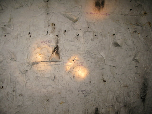 Early graffiti in Eastry caves