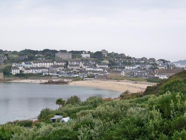 Porth Cressa Beach From Buzza Hill, St Mary's, Isles Of Scilly