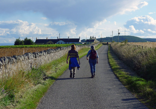Approaching Navity Cottages