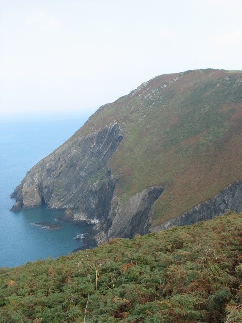 Cliffs on the west side of Dinas Island