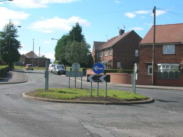 Roundabout on Salisbury Road, Maltby