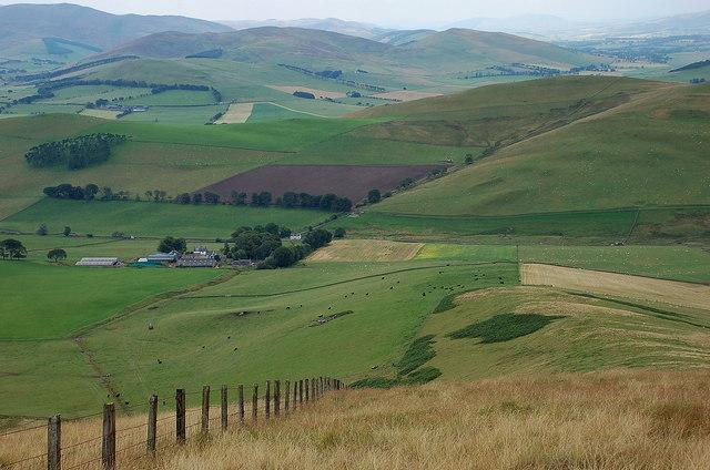Cloverhill farm from Clover Law
