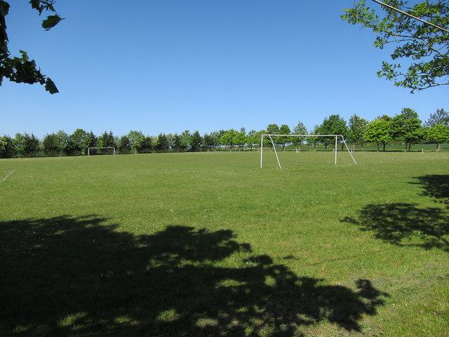Football pitch north of Ashdon