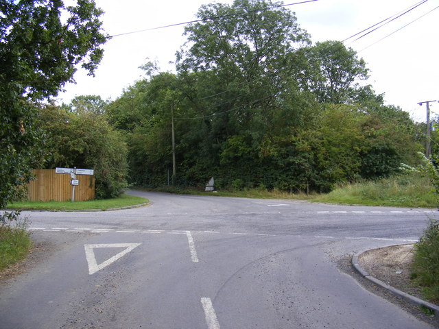 Otley Road at Bond's Corner crossroads