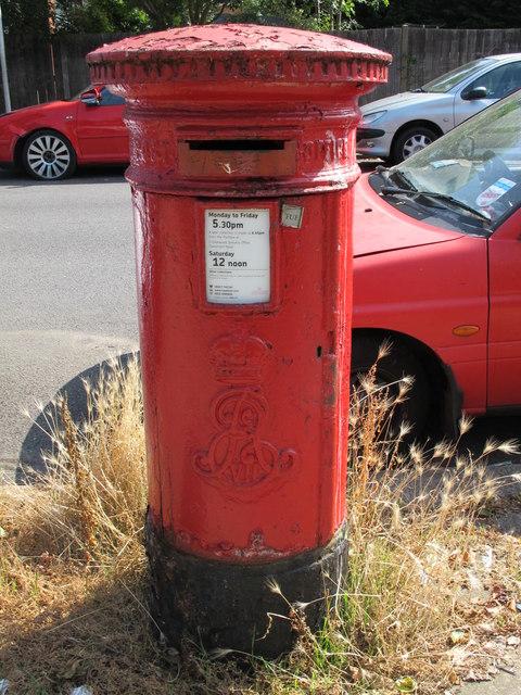 Edward VII postbox, Lichfield Road / Horton Avenue, NW2
